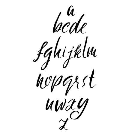 sloppy: Hand drawn font. Modern brush lettering. Elegant alphabet