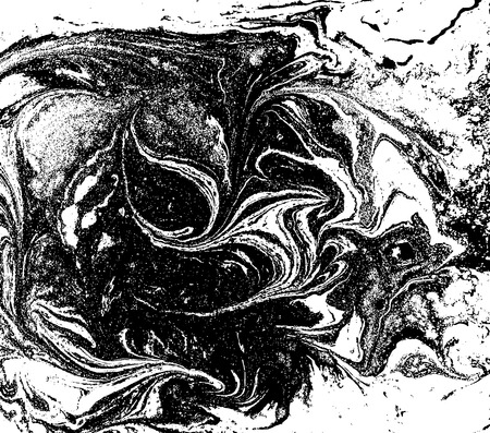 Black and white liquid texture, watercolor hand drawn marbling illustration, abstract vector background Illustration