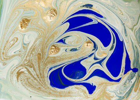 water wave: Marbled blue and green abstract background. Liquid marble pattern