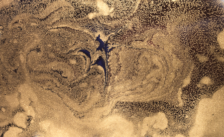Marbled abstract background. Liquid marble pattern. Stone surface. Golden dust marble backdrop. Imagens