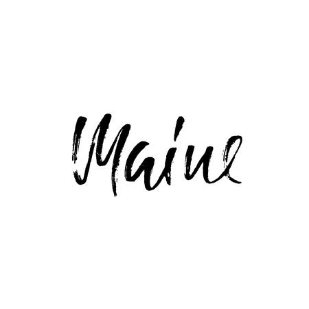 hand print: Maine.USA state
