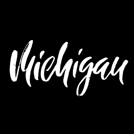 hand print: Michigan.USA state Illustration