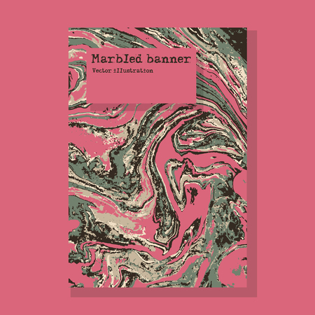 Marbled pink and green abstract pattern