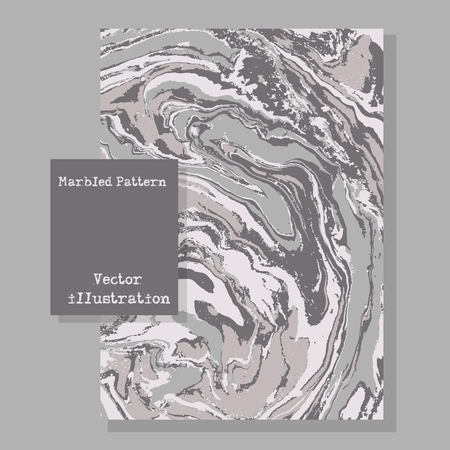 wet paint: Marbled gray abstract background. Liquid marble pattern fluid texture. Template flyer design. Space for text.