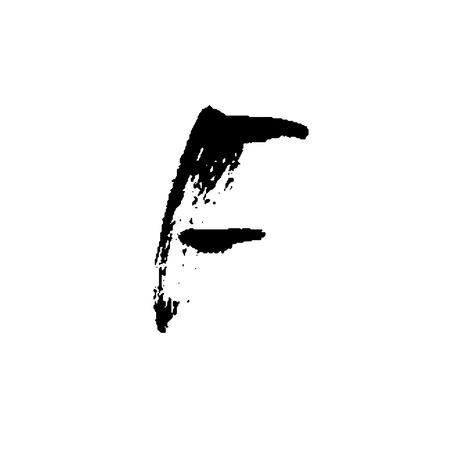 dash: Hand painted letter F.