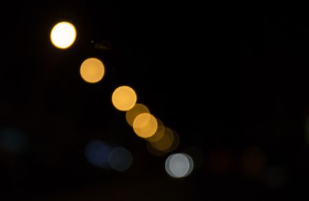Defocused bokeh abstract background for your design. Colorful lights texture. Stock Photo