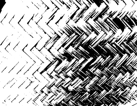 Black and white braided basket texture. Wicker background. Vector illustration.