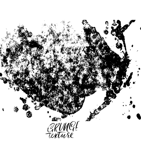 Ink vector brush strokes. Vector illustration. Grunge hand drawn watercolor texture. Space for text.