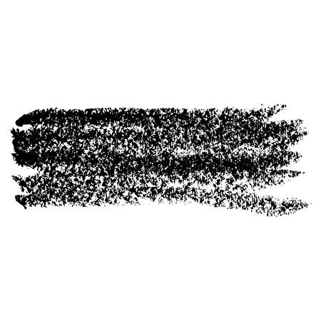 Chalk brushe. Grunge line with chalk texture. Hand drawn design element. Vector illustration