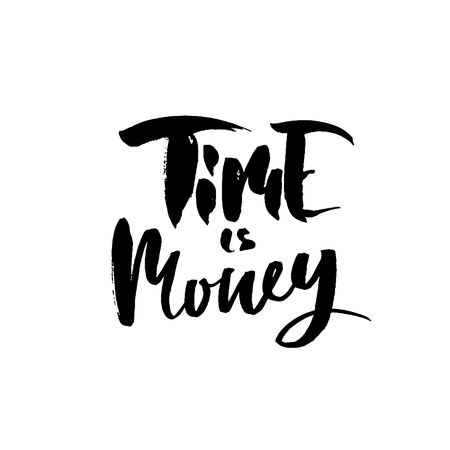 Time is money lettering design