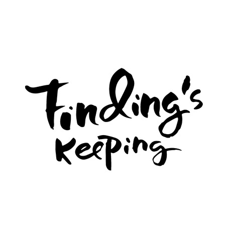 Findings keeping in Hand drawn lettering.