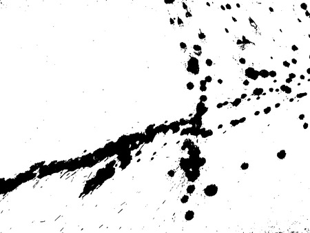 Hand-made grunge texture. Abstract ink drops background. Black and white grunge illustration. Vector watercolor artwork pattern.
