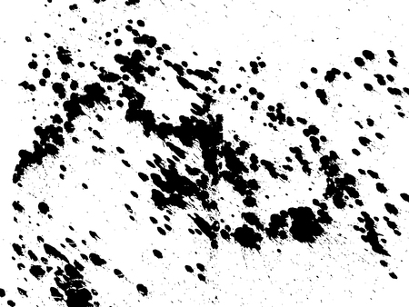Hand-made grunge texture. Abstract ink drops background. Black and white grunge illustration. Vector watercolor artwork pattern Illusztráció