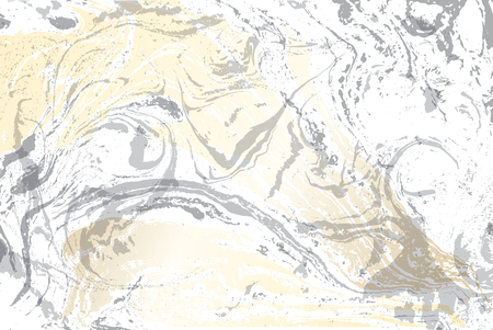 White and gray marble texture. Gold marbled pattern. Light vector surface.