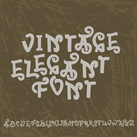 Vintage letters. Decorative typeface. Old style vector font.