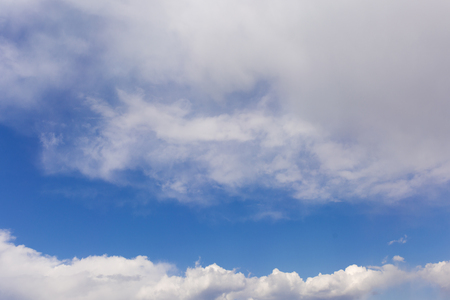 Blue clean sky with white clouds
