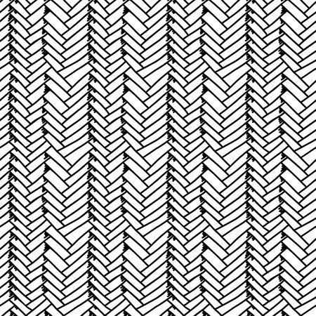 Woven sketch seamless pattern. Braided mat. Vector Illustration