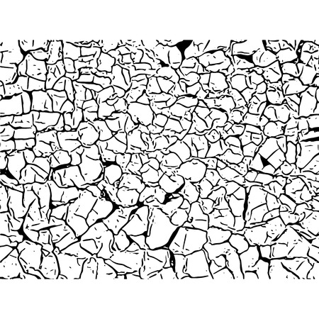 Cracked texture. Cracks and scratches. Vector grunge illustration. Illustration