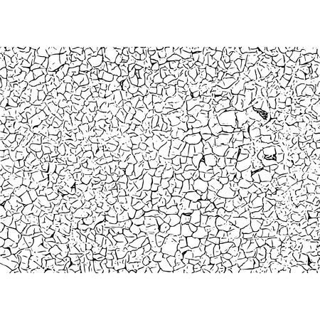 Texture craquelée. Fissures et rayures. Illustration vectorielle de grunge.