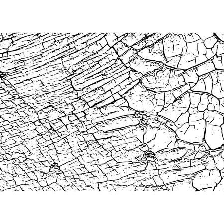 Texture craquelée. Fissures et rayures. Illustration vectorielle de grunge. Vecteurs