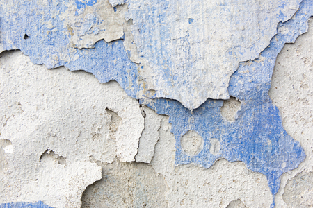 Old weathered blue plaster wall texture. Grunge background. Stock fotó