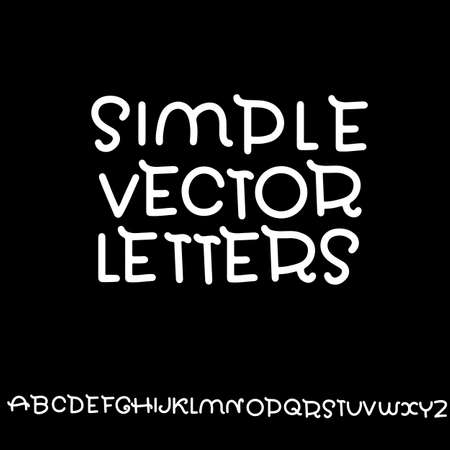 Simple alphabet. Modern font Vector illustration