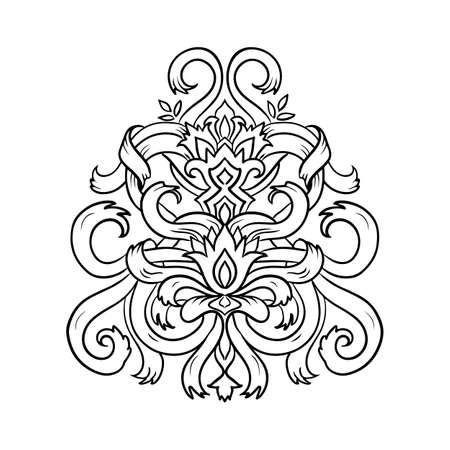 Ribbon sketch pattern. Vector illustration