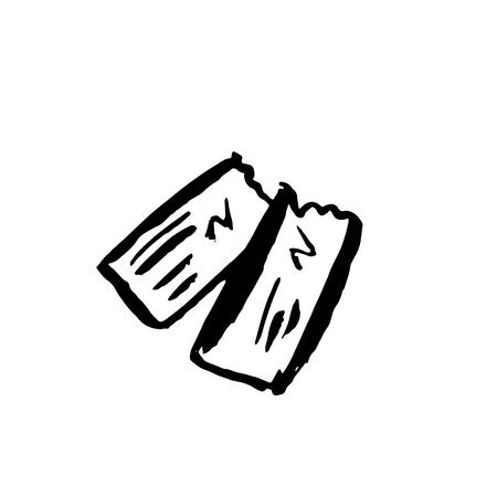 Ticket grunge icon. Vector illustration. Illustration