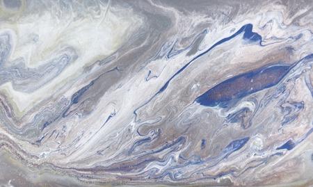 Blue marbling pattern. Golden marble liquid texture. Foto de archivo