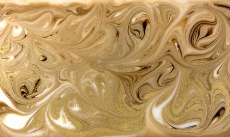 Beige marbling pattern. Golden marble liquid texture.
