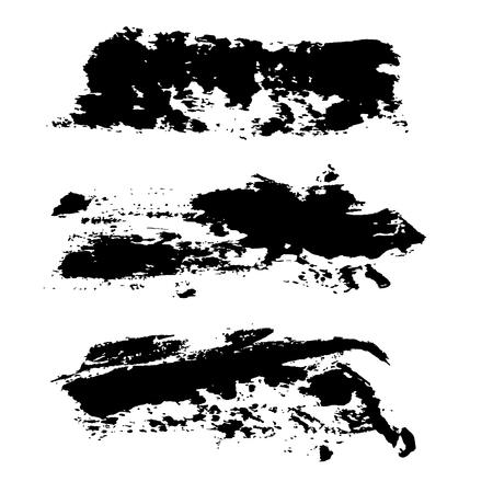 Sfondo di tratti di pennello vettoriale di inchiostro. Illustrazione vettoriale. Trama del grunge Vettoriali