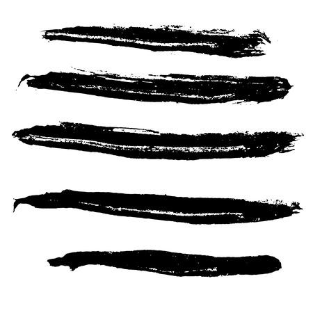 Fondo de trazos de pincel de vector de tinta. Ilustración vectorial. Textura grunge