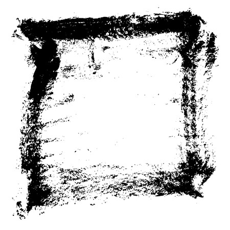 Ink vector brush stroke frame. Vector illustration. Grunge texture Vector Illustration