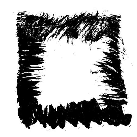 Ink vector brush stroke frame. Vector illustration. Grunge texture