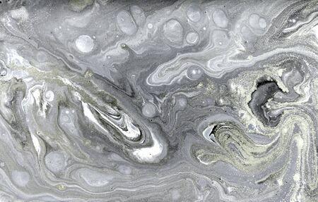 Beige marbling pattern. Golden powder marble liquid texture 스톡 콘텐츠