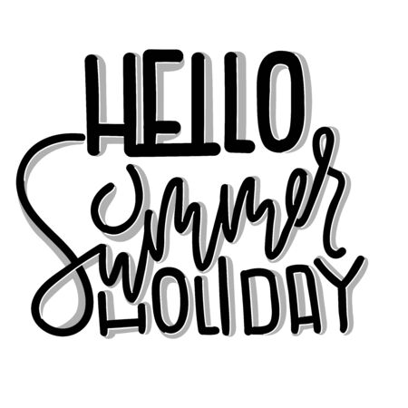 Hello summer holiday. Abstract summer poster. Vector illustration.