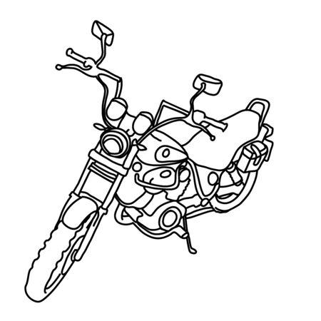 Scooter schets. Fiets afdrukken. Eenvoudige vectorillustratie