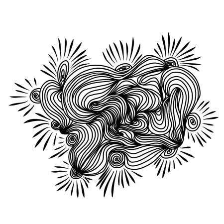 Wave abstract pattern. Round lines background. Vector illustration Illustration