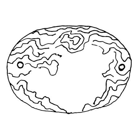 Handdrawn wooden banner. Sketch vector illustration. Illustration