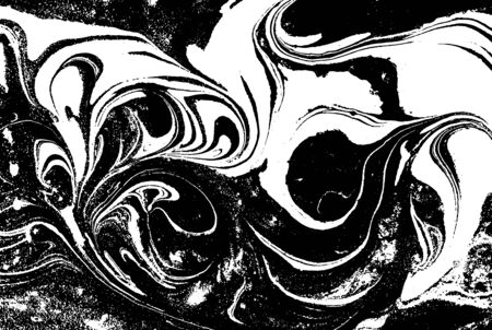 Black and white liquid texture. Abstract vector background. Stock Illustratie