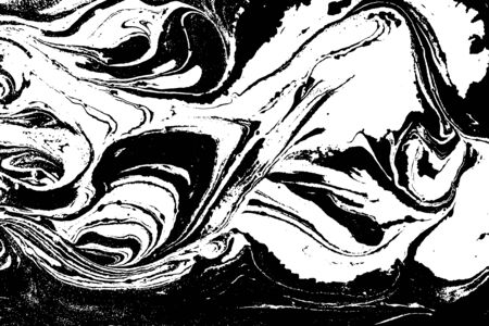 Black and white liquid texture. Abstract vector background. Çizim