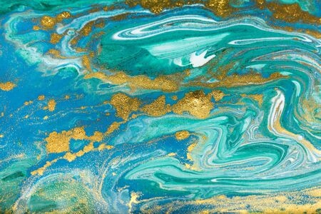 Beautiful unique turquoise acrylic marble background