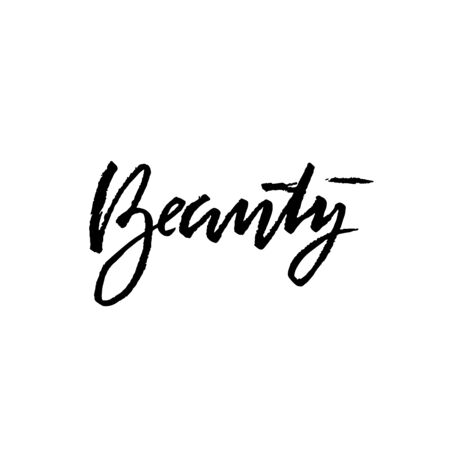 Beauty lettering. Vector illustration. Modern dry brush typography banner.