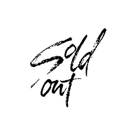 Sold Out. Modern dry brush lettering. Vector illustration
