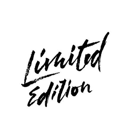 Limited edition. Ink handwritten lettering. Modern dry brush calligraphy. Typography poster design. Vector illustration. Illusztráció