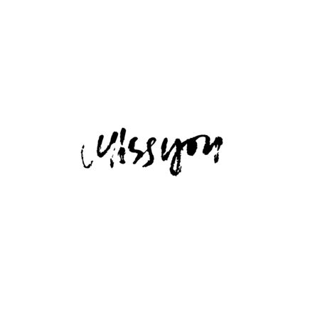 Miss you inscription. Greeting card with calligraphy. Hand drawn modern dry brush lettering design. Vector typography. 일러스트