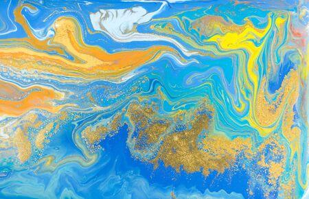 Mixed colored paints background. Multicolor burst pattern. Archivio Fotografico - 133480840