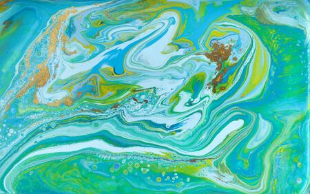 Mixed colored paints background. Ocean ripple style summer pattern