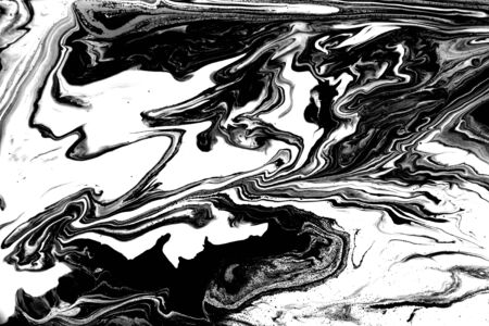 Black and white abstract background. Liquid marble pattern. Monochrome texture. Foto de archivo - 134240043
