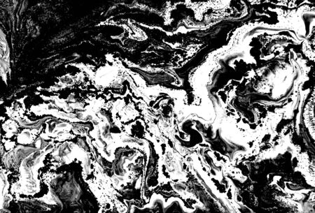 Black and white abstract background. Liquid marble pattern. Monochrome texture. Foto de archivo - 134240044